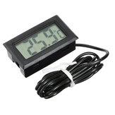 5Pcs Mini LCD Digital Thermometer For Aquarium Fish Tank Refrigerator Temperature Measurement 79cm Probe -50°C to 110°C
