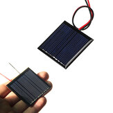0.25W 5V 45 * 45mm Tel ile Mini Polysilicon Solar Panel Epoksi Kurulu
