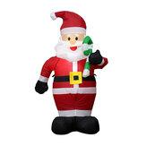 1.2M عيد الميلاد نفخ اللعب سانتا عيد الميلاد الديكور في الهواء الطلق حديقة الأنوار