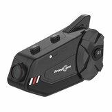 R1 Plus 1080P HDカメラWiFi Bluetooth 5.0オートバイグループ1000Mインターホン防水HDレンズ6ライダーFMヘルメットヘッドセット