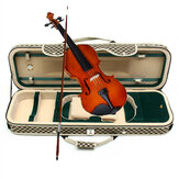 4/4 Acoustic Violin Case Fiddle Strap Box With Hygrometer Oblong Carry Case Storage