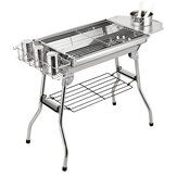 Roestvrij staal BBQ houtskool Barbecue Grill Outdoor tuin picknick Camping Cook
