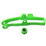 Slider de corrente verde com menor Rolete para Kawasaki KX250F 06-16 KX450F 06-15