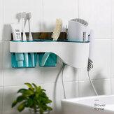 Uchwyt na suszarkę do włosów Schowek Półka bez użycia rąk na Organizator łazienkowy Stojak do przechowywania Zestaw akcesoriów łazienkowych Dom