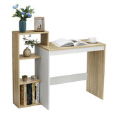 43 Inch Work Table Shelf PC Table Computer Furniture  Home Office White Sonoma