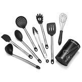 9 Unids / set Utensilios de Cocina de Acero Inoxidable para Cocinar Antiadherente Para Hornear herramienta Silicona Conjunto de Contenedor de Almacenamiento de Cocina