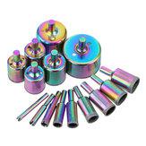 Drillpro 15pcs 6-50mm Titanium Berlian Lubang Saw Bor Bit Set Tile Keramik Kaca Marmer Bor Bits