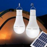 محمول لوحة للطاقة الشمسية 9W USB القابلة لإعادة الشحن التخييم ضوء 25 البوليفيين LED مصباح لمبة في حالات الطوارئ في الهواء الطلق