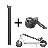 Black Folding Pole + Base Replacement Spare Parts For M365 Electric Scooter