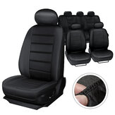 MECO Universal Five Seat Car Seat Covers Front Rear Head Rests Full Set Auto Seat Cover