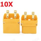 10 Pair Amass XT60PT 3.5mm Banana Connector Plug Male & Female for RC Battery