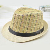 Men And Women Color Vertical Breathable Straw Hat Outdoor Travel Sunscreen Beach Hat