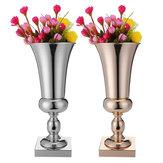 43cm Atemberaubende Luxus Silber Gold Blumenvase Hochzeit Tafelaufsatz Dekor