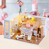CUTE ROOM Camp Party Theme DIY Assembled Cute Doll House With Cover & Light