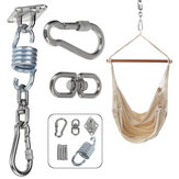 360° Rotation Stainless Steel Hammock Swing Hook Fixed Plate Hanging Chair Sandbag Buckles Tools Kit