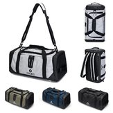 20inch Men Outdoor Gym Bag Travel Sports Handbag Backpack Shoes Storage Duffel Rucksack