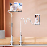 Universal Long Flexible Gooseneck Arm Tablet/ Phone Lazy Holder Stand Bed Desk Desktop Office Kitchen Clip Mount for iPad Air All Smartphone above 4.5 inch Maximum Stretching 200mm