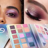 لوحة ظلال العيون 18 لونًا من O.TWO.O بودرة صبغية سهلة المزج بمكياج ظلال العيون أورورا بورياليس الغنية بالألوان