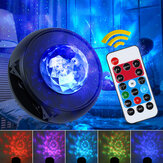 Infrared Type LED Starry Sky Night Light bluetooth Music Water Wave Projector With Remote Control USB Powered Sound-Activated Stage Laser Star Projection Lamp 5V/3W