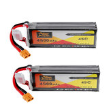2Pcs ZOP Power 14.8V 4500mAh 4S 45C Lipo Battery XT60 Plug For RC Car Boat Quadcopter
