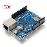 3Pcs Ethernet Shield Module W5100 Slot para cartão Micro SD para UNO MEGA 2560 Geekcreit para Arduino - produtos que funcionam com placas Arduino oficiais