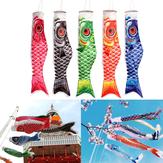 100cm Koi Nobori Sazan Rüzgar Çorabı Koinobori Balık Uçurtma Bayrağı Asılı Dekor