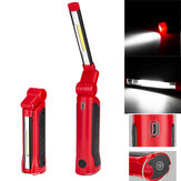 COB+3W LED 270° Rotation USB Rechargeable Work Light 4 Modes Emergency Magnetic Tail Flashlight