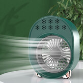 USB Portable Mini Fan Air Conditioner Cooling Noiseless 3 Speed with Night Light For Home Office Desk