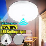 12W 18W ذكي الحركة المستشعر LED السقف ضوء مصباح المنزل المباحث مصباح AC220V