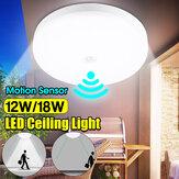 12W 18W Intelligente bewegingssensor LED-plafondlamp Home Armatuur Detectivelamp AC220V