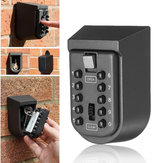 Outdoor Wall Mount Key Safe Combination Lock Storage Box 10-Digital Password
