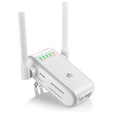 DHMXDC Wireless-N 300Mbps WiFi Range Extender Wireless Router Repeater AP WPS Mini Dual External Antennas Wireless Booster Signal Wireless Access Point