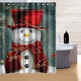 150x180cm boneco padrão à prova de água de chuveiro de poliéster decoração do banheiro cortina com 12 ganchos