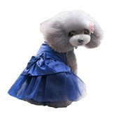 Summer Dog Dress Puppy Hot Drilling Wedding Dress Lace Doggy Skirt
