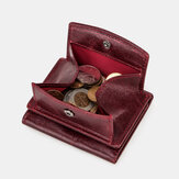 Women Genuine Leather RFID Anti-theft Wallet Coin Bag