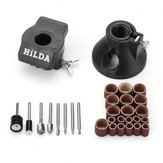 Hilda 30pcs Drill Positioner Locator with Sanding Band and Rotary Burr Carving Polishing Rotary Tool