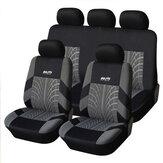 غطاء مقعد السيارة العالمي 5 مقاعد حامية وسادة أمامية وخلفية SUV كاملة