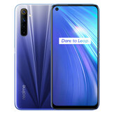 Realme 6 Global Version 6,5 tommer FHD + 90Hz Opdateringshastighed NFC Android 10 4300mA 64MP AI Quad-kamera 4 GB 64GB Helio G90T 4G-smartphone