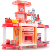 Ensemble de jouets de cuisine pour enfants Playhouse Sound and Light Sound Effects Girls Cook And Cook Ustensiles