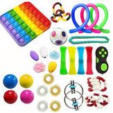21/29 pièces Fidget Toys Sensory Set Anti Stress Fidget Bubble Toys Décompression Artefact Main Puzzle Jouets Pour Enfant Adultes
