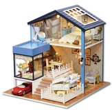 DIY Dollhouse Miniature Kit Doll House Med Møbler Gift Craft Toy