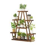 Multi-Tier Plant Rack Flower Pot Stand Wood Garden Storage Shelf Display Rack Home Office Furniture