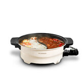 OCOOKER CR-HG03 1500W 4L Multi-function 2 Grid Electric Hot Pot Non-stick Pot Home Kitchen Cookimg Tools