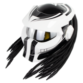 SOMAN Hunter Black Flip Up Custom Láser Light Antifogging Lente Cascos integrales Cool Casco Moto Moto Casco