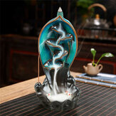 Waterfall Backflow Incense Tower Burner Incense Stick Holder Flower Incense Censer Burner for Home Aromatherapy Decor