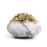 Antique Incense burner nón gỗ đàn hương lư hương Phật giáo Yoga Thư giãn trang trí