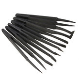 6pcs Straight Bend Anti-static Tweezer Heat Resistant Repair Tool