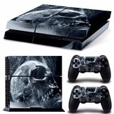 Skull Skin Style Sticker pour PS4 Play Station 4 Console 2 Controllers Vinyl Decal