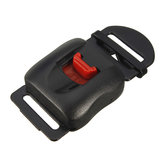 Clip Chin Strap Quick Release Buckle per casco moto Black Red