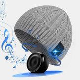 Unisex wełniana ciepła, inteligentna czapka z dzianiny bezprzewodowej Bluetooth ze słuchawkami i wbudowanymi głośnikami stereo i mikrofonem